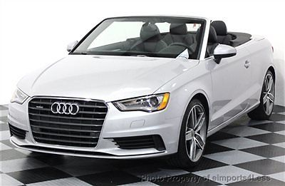 Audi : A3 CERTIFIED A3 2.0T Quattro AWD CONVERTIBLE SPORT NA CONVERTIBLE AWD CERTIFIED 2015 9k miles SPORT navigation PREMIUM PLUS 19s XENONS