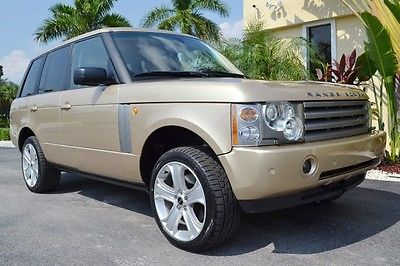 Land Rover : Range Rover HSE 2005 range rover hse florida suv rear dvd 20 inch wheels new tires maya gold