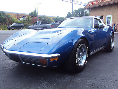 Chevrolet : Corvette 1972 Covette Stingray Convertible  1972 stingray convertible 454 4 speed matching original miles