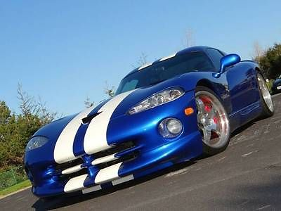Dodge : Viper GTS 1997 dodge viper paxton supercharged gts coupe blue with white stripes 650 hp