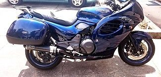 Triumph : Trophy 1996 triumph trophy touring bike with extras in blue make an offer