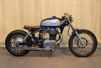 Suzuki : Boulevard 2005 suzuki 650 cc cafe racer blue custom bobber motorcycle make an offer