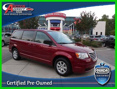 Chrysler : Town & Country CPO Town & Country DVD Third Row Power Everything NIADA Certified 2010 Chrysler Town & Country LX 3.8L Automatic FWD Minivan Clean