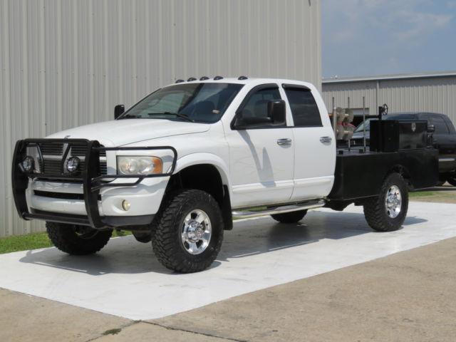 Dodge : Ram 3500 Diesel 4x4 04 ram 3500 slt leather 5.9 cummins 6 spd manual 4 x 4 welder bed 16 records 1 ton tx