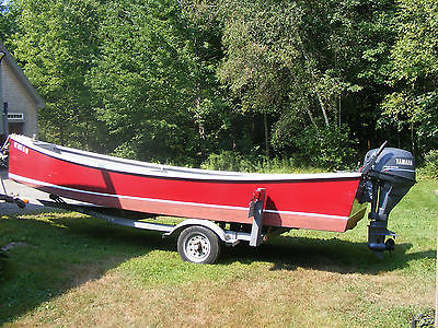 18' Phil Bolger Skiff With Motor and Trailer