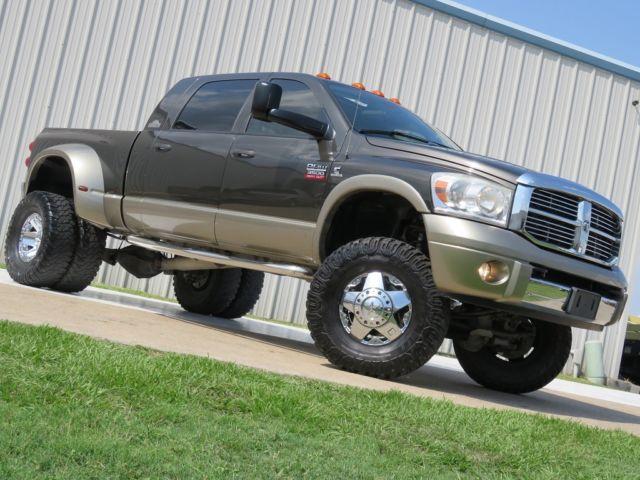 Dodge : Ram 3500 Diesel 4x4 08 ram 3500 laramie resistol mega cab 6.7 l cummins 6 spd at dpf deleted lift tx
