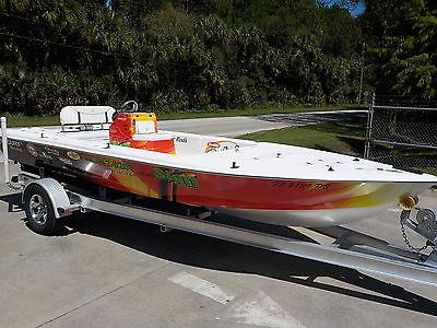 2009 CAROLINA SKIFF 200 FLATS FISHING BAY BOAT TRAILER MERCURY RIGGED SEA CHASER