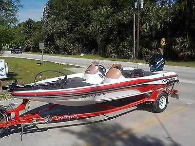NICE AND CLEAN- 2007 NITRO 750 DC BASS FISHING BOAT 90HP MERCURY COVER TRACKER