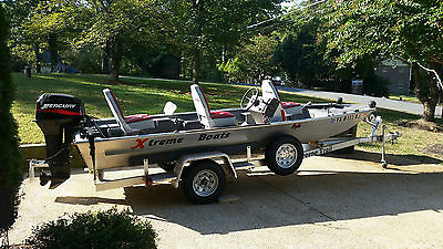 02 XTreme 17' V Pro Saltwater Fishing boat with 2012 All Alum. XTreme Trailer