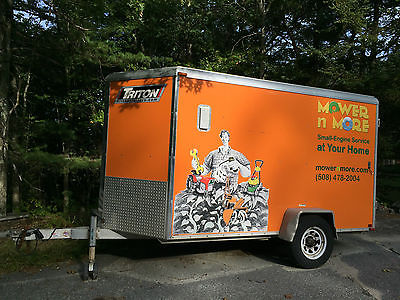 2012 5x10 enclosed Triton cargo/toy trailer. Loaded with many extras!