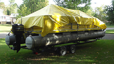 Pontoon Boat with Trailer