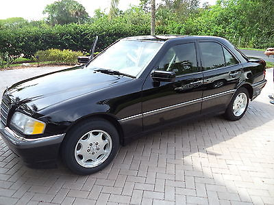Mercedes-Benz : C-Class C280 1999 c 280 mercedes benz 124 000 miles black tan 6 cyl sun roof serius wired