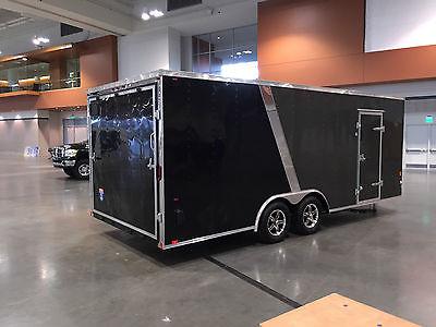 20' Enclosed Car Trailer - Two Toned - Aluminum Wheels - MADE & PICKUP MICHIGAN