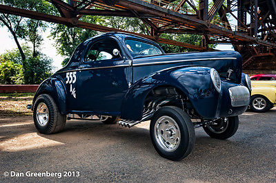 Willys : Americar - All Steel Willys Americar, Gasser, Blue, Coupe, Straight Axle, Race Car, Street Rod