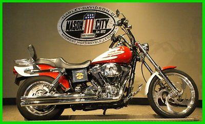 Harley-Davidson : Dyna 2004 fxdwg dyna wide glide custom red white big bore watch our video