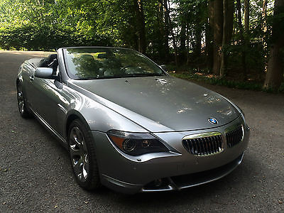 BMW : 6-Series 2007 650 i convertible silver 39 300 miles never seen snow impeccable loaded