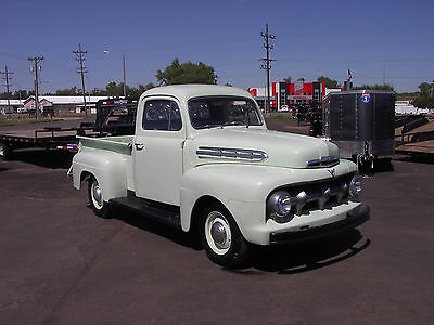 Ford : F-100 Ford 1951 51 ford f 1 f 100 pu pickup flathead 4 speed nice restored pickup