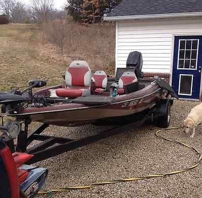 16' PROCraft fiberglass bass boat w/ 150 Mercury outboard