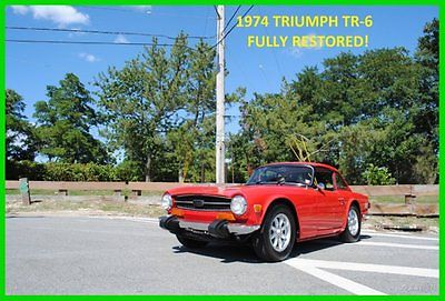 Triumph : TR-6 TR6 WITH FACTORY REMOVABLE HARD TOP Fully Serviced Restored Super Reliable Excellent Condition Must See and Drive