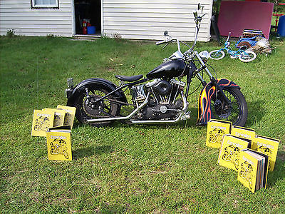 Harley-Davidson : Other 73 harley davidson ironhead on a hardtail frame 5500