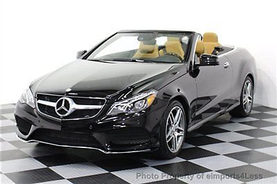 Mercedes-Benz : E-Class CERTIFIED E550 V8 AMG SPORT CONVERTIBLE NAVIGATION E550 V8 CONVERTIBLE 2015 6k miles CERTIFIED navigation SURROUND CAMERA amg sport