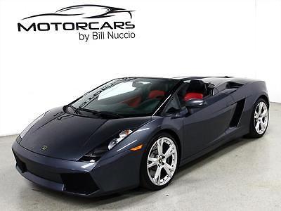 Lamborghini : Gallardo Spyder 2007 lamborghini gallardo spyder grigio proteus red black 14 k miles manual