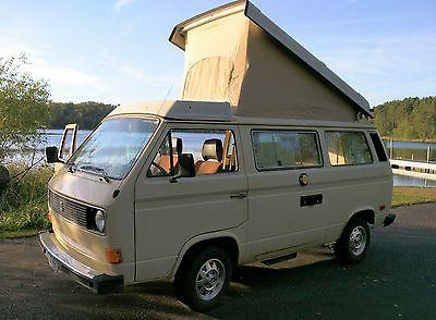 Volkswagen : Bus/Vanagon campmobile 1982 volkswagen westphalia camping van pop top camper
