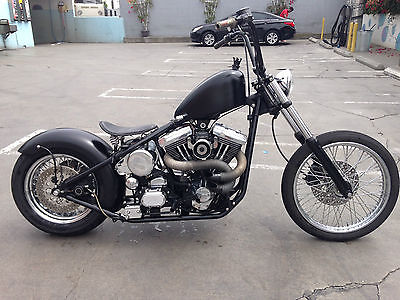 Custom Built Motorcycles : Bobber Mat Black, Harley Davidson, Cafe Racer, Excellent Condition, Strong Runner
