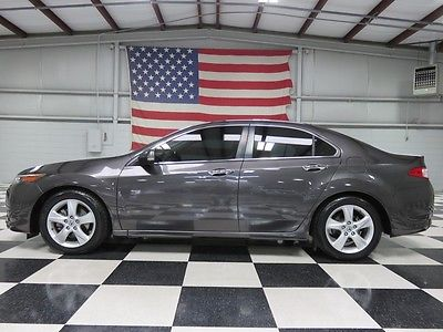 Acura : TSX Base Sedan 4-Door Gray 4-Door Warranty Financing Auto Leather Heated Sunroof Low Miles 31mpg Clean