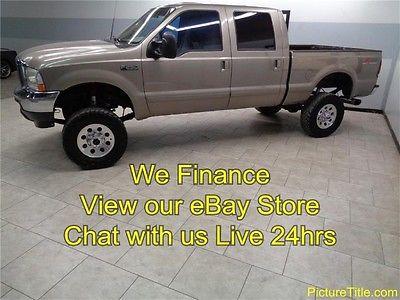 Ford : F-250 XLT 4WD Crew 7.3 Diesel 02 f 250 xlt 4 x 4 7.3 powerstroke diesel lifted wheels we finance texas