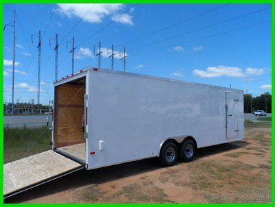 26' v nose 8.5x24 advanced motorcycle enclosed cargo atv car hauler trailer New