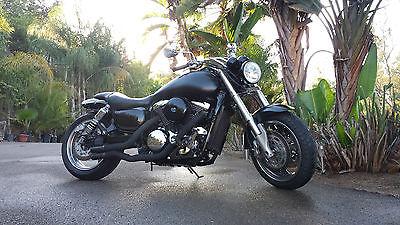 Custom Built Motorcycles : Bobber 2006 custom built motorcycle bobber blacked out kawasaki mean streak 1600 b 1