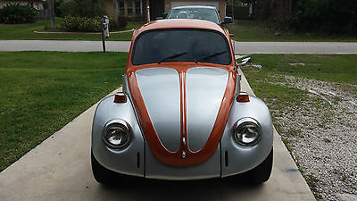 Volkswagen : Beetle - Classic 1600 Beetle 1973 two tone orange and silver exterior needs a carb replacement or rebuild