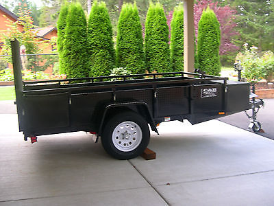 UTILITY AND BOAT LAUNCH/RECOVERY TRAILER 10' X 5' ONE OF A KIND DIAMOND PLATE