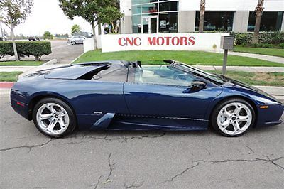 Lamborghini : Murcielago Roadster 2006 lamborghini murcielago roadster in blue only 8 968 miles lp murci