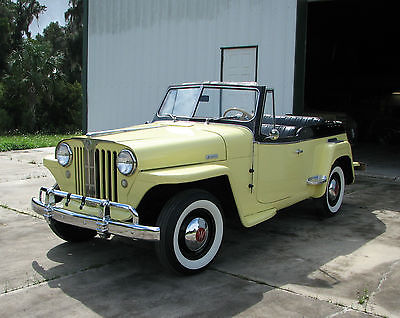 Willys : Jeepster chrome 1949 willys overland jeepster nice restored driver