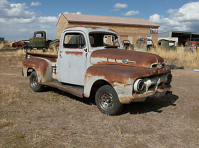 Ford : Other Pickups Pickup 47 48 49 50 51 1952 ford pickup rat rod hot rod resto project in progress