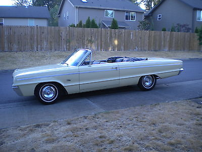 Dodge : Polara standard Convertible All Original Survivor 1 Owner 47 Years 383 Automatic Bench Seat NICE