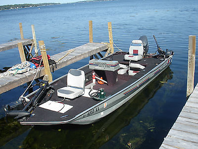 16' LAKELAND 1672 PRO Fishing Boat with Mariner 60hp engine and Trailer