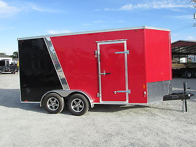 NEW INTERSTATE 7 X 14 ENCLOSED TRAILER *RAMP*ALUM RIMS*XTRA HT *BIG SALE @ DR