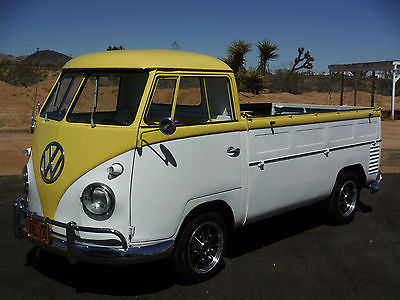 Volkswagen : Bus/Vanagon TRUCK 1956 volkswagen pickup truck california yellow and black plates restored