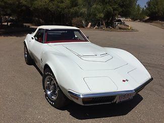 Chevrolet : Corvette LT1 1972 chevy corvette lt 1 convertible 2000 miles on rebuilt lt 1 high performance