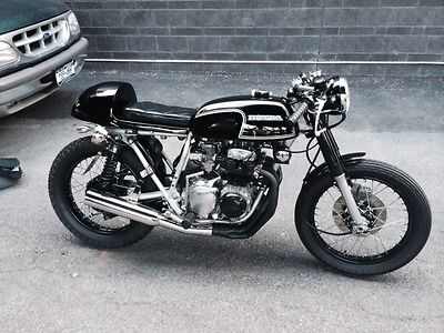 Honda : CB 1973 honda cb 350 black cafe racer