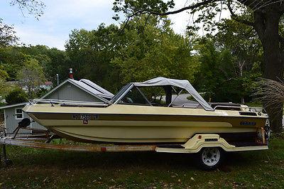 1970 Ozark T-170 17 Foot Tri-Hull Boat