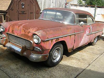 Chevrolet : Bel Air/150/210 1955 chevy belair 2 door h t full project has rust 350 motor 4 speed trans clean