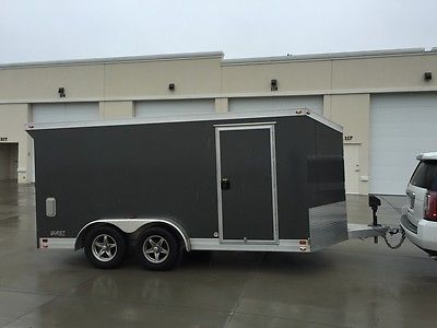 7.5'x14' ATC all aluminum enclosed v-nose trailer