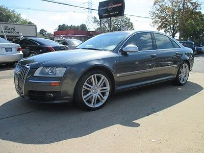 Audi : S8 Base Sedan 4-Door Free shipping warranty rare clean carfax dealer serviced luxury quattro awd v10