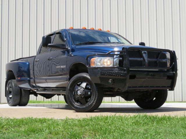 Dodge : Ram 3500 Diesel 4x4 05 ram 3500 slt 5.9 l cummins h o 6 spd manual 4 x 4 bumper rockstars lwb carfax tx