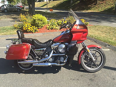 Harley-Davidson : FXR 1984 harley fxrt fxr chain drive 1340 with spare fxrd fairing lowers bags forks