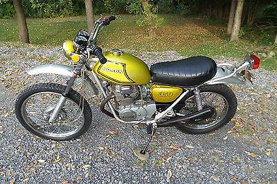 Honda : Other 1972 honda sl 350 sl 350 enduro twin motorcycle original